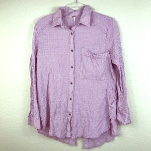 Free People Stripped Button Down w/Open Back
